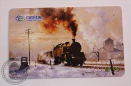 China Tietong Phone Card - Train/ Railway  Engine/ Steam Locomotive On Snow - Trenes