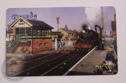 China Tietong Phone Card - Train/ Railway  Engine/ Steam Locomotive & Railway Station - Trenes