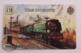 Unitel Limited Edition Prepaid Phone Card - Train/ Railway  Engine/ Locomotive - American Railways: Golden Arrow - Trenes