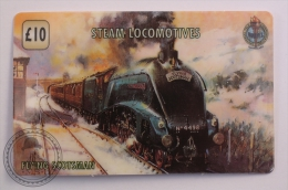 Unitel Limited Edition Prepaid Phone Card - Train/ Railway  Engine/ Steam Locomotives - Flying Scotsman - Trenes