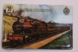 Unitel Limited Edition Prepaid Phone Card - Train/ Railway  Engine/ Steam Locomotive: Midland Railway - Trenes