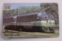 Unitel Limited Edition Prepaid Phone Card - Train/ Railway  Engine/ Locomotive - American Railway: Northern Pacific - Trenes