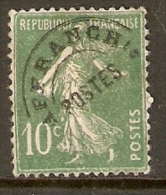FRANCIA PREOBLITERÉ Yv 51 10 C. Vert Tipo P - 1893-1947