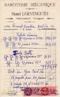 Ancienne Facture (1944) -SABOTERIE MECANIQUE - Henri LOEVENGUTH - MOUUSEY (Vosges) - France