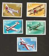 E6-7. Russia USSR 1986 Mi 5559 - 5563 Air Aviation Transport Airplanes Aircraft Plane - 1923-1991 USSR