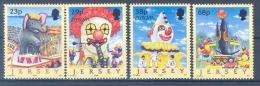 JERSEY Mi.Nr. 1019-1022 Europa Cept Zirkus -2002- MNH - Jersey