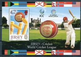 JERSEY Mi.Nr.  Block 69  Sport Cricket - MNH - Jersey