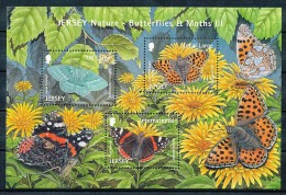 JERSEY Mi.Nr.  Block 100 Schmetterlinge - MNH - Jersey
