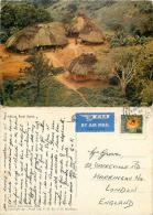Rural Village Scene, Tanzania Postcard Posted 1969 Stamp - Tanzania