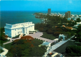 Presidential Palace, Dakar, Senegal Postcard Posted 1989 Gb Stamp MARITIME MAIL - Senegal