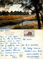 Village, Senegal Postcard Posted 1966 Nice Stamp - Senegal