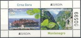 Montenegro 2012 Europa, Visit... River Tara Canyon And Saint Stephen Island, Block, Souvenir Sheet MNH - 2012
