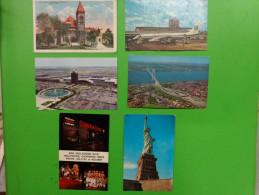 New York-hollywood-.statue De La Liberte-public Library And Mckinley Monument Dayton Ohio-etc.. - Cartes Postales