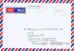 RDC DRC Congo Zaire 2007 Lumumbashi 1 Meter Franking Frama A67 Cover Via Zambia - Democratic Republic Of Congo (1997 - ...)