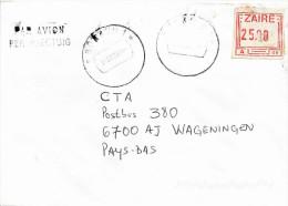 RDC DRC Congo Zaire 2001 Bukavu 1 Code Letter C Meter Franking Label Frama A08 Cover - Democratische Republiek Congo (1997 - ...)