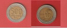 CHILI   //  500 PESOS 2000   //  KM # 235   //   TTB  // - Chile