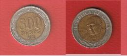 CHILI   //  500 PESOS 2002   //  KM # 235   //   TTB  // - Chile