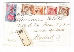 Italien 1921 - Mi# 136 I, 91 (x2), 129 131 Auf  R-Eilboten-Brief Von Roma Nach Madrid Silb. Lacksiegel - Italien