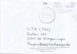 RDC DRC Congo Zaire 2004 Bukavu 1 Code Letter C Port Paye Unfranked Cover - Democratic Republic Of Congo (1997 - ...)