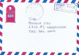 RDC DRC Congo Zaire 2001 Bukavu 1 Code Letter E Port Paye Unfranked Cover - Democratic Republic Of Congo (1997 - ...)