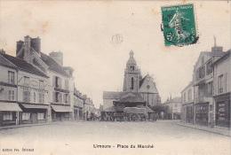23430 -LIMOURS EN ESSONNE Place Du Marché -ed Vve Coiscaud -charrette Devant Les Halles -coiffeur Cabasset