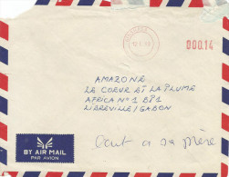 RDC DRC Congo Zaire 1999 Kinshasa Number Removed Meter Franking Blank, Without Country Designation Cover. Unreported!! - Democratische Republiek Congo (1997 - ...)