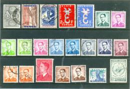 1958 BELGIQUE - 22 Timbres Oblitérés - Voir Scan. - Used Stamps