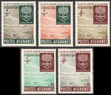 Afghanistan, 5 Stamps 1962, Sc # 583-587, Mi # 645A-648A, MH - Afghanistan