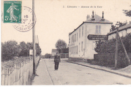 23437 -LIMOURS Avenue De La Gare - 5 Lib Nouvelle Rambouillet -hotel Café Restaurant De La Gare -gendarme ? - Limours