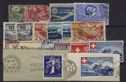 Lot Schweiz gestempelt used / 18 Werte