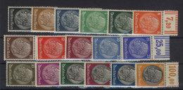 Deutsches Reich Michel No. 512 - 528 ** postfrisch / Rand mit Falz