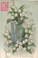 23445 Muguet Souvenir De Premier Mai Souvenir Printemps  -en Relief - Sans éd . - Fleurs, Plantes & Arbres