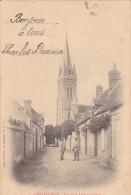 23446 Chateauneuf (28 Eure) Rue De La Lune Et L'église - Ed Radet Lib C. -surcharge Charles Duvivier -