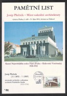 Czech Rep. / Commemorative Sheet (PaL 2011/04) 130 03 Praha 33: Josip Plecnik (1872-1957), Master Of Sacred Architecture - Slovenia