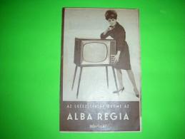 Television Shop,TV Store, Alba Regia,advertising Sheet,magazine Reklame,Hungary,vintage - Television