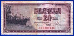 1 BILLET MONNAIE YOUGOSLAVIE NARODNA BANKA JUGOSLAVIJE JUGOSLAVIJA 20 DINARA DINARJEV DG 9307438 DU 12.VIII 1978 - Yugoslavia