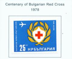 BULGARIA  -  1978  Air  Red Cross  Mounted Mint - Bulgaria