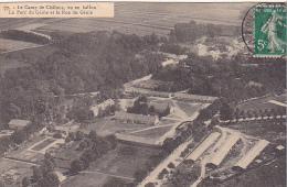 23459 Camp CHALONS Vu En Ballon Le Parc Du Génie Et La Rue Du Génie   77 Saconnay - - Camp De Châlons - Mourmelon