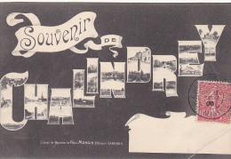 23460 CHALINDREY - SOUVENIR MULTIVUES EN LETTRES  -ed Lib Pap Paul Mongin -