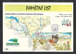 Czech Rep. / Commemorative Sheet (PaL 2011/01 B) Praha 1: Nature Protection On Stamps - Lower Morava (UNESCO) - Blocks & Sheetlets