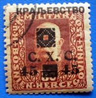 BOSNIA AND HERZEGOVINA REGIONAL EDITION SHS OVERPRINT 45/80 H 1919  Mic.40B  USED WITH GUM  Perf. 11 1/2 - Bosnia Herzegovina