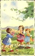 ENFANT AVEC FLEURS - Contemporain (à Partir De 1950)