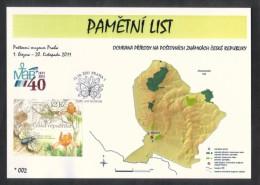 Czech Rep. / Commemorative Sheet (PaL 2011/01 C) Praha 1: Nature Protection On Stamps - Lower Morava (UNESCO) - Blocks & Sheetlets