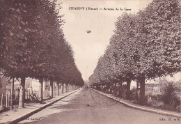 23464 CHARNY Yonne Avenue De La Gare -Ed B.R. Photo Lugues - Charny