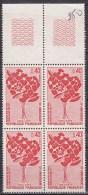 N° 1716 20ème Anniversaire Des Donneurs De Sang Bénévoles Desd P.T.T: Bloc De 4 Timbres - Unused Stamps
