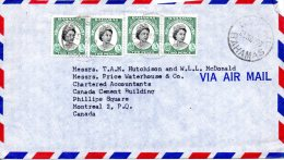 BAHAMAS. N°164 De 1959 Sur Enveloppe Ayant Circulé. Elizabeth II. - Royalties, Royals