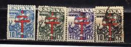 F  250 España 1941   Pro Tuberculosos Nº 948-951 Usados - 1931-Today: 2nd Rep - ... Juan Carlos I