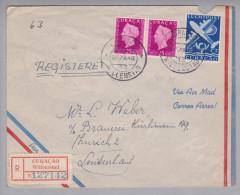 Curacao 1949-12-27 Willemstad R-Zensurbrief Airmail Nach Zürich Brauerei Hürlimann - Timbres