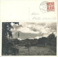"""AK """"Bei Ragaz - Wolkenspiel""""   (FL-Frankatur)            1931 - Cartas"""