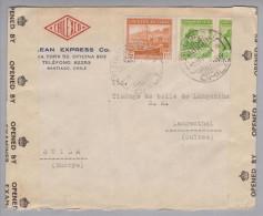 Chile 1941-11-22 Santiago Zensurbrief Nach Langenthal Schweiz - Chili